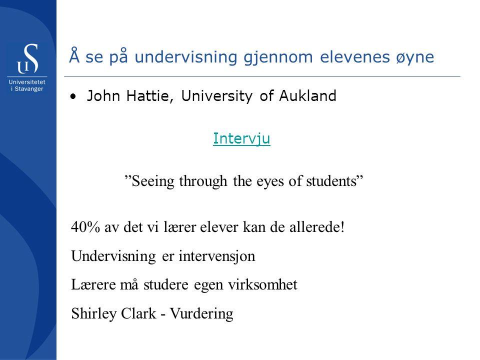 Å se på undervisning gjennom elevenes øyne