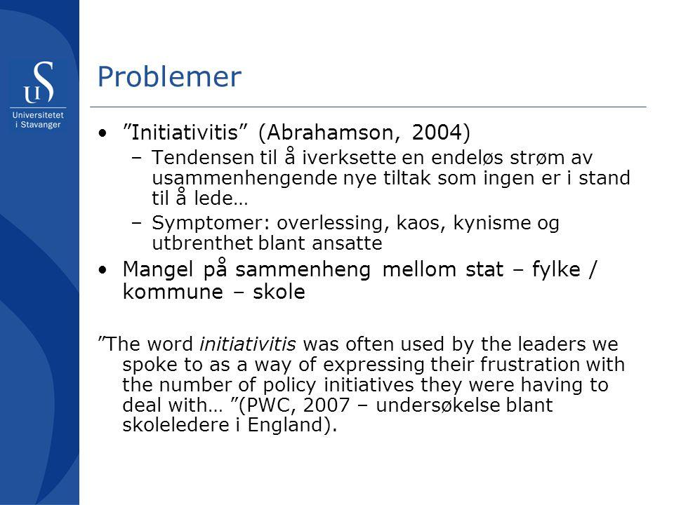 Problemer Initiativitis (Abrahamson, 2004)