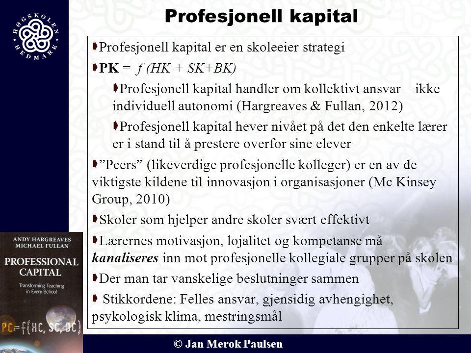 Profesjonell kapital Profesjonell kapital er en skoleeier strategi