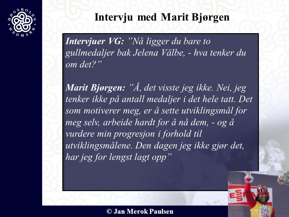 Intervju med Marit Bjørgen