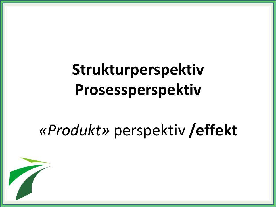 «Produkt» perspektiv /effekt