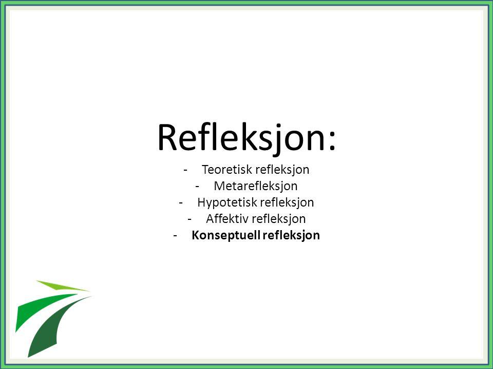 Konseptuell refleksjon