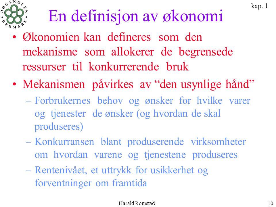En definisjon av økonomi