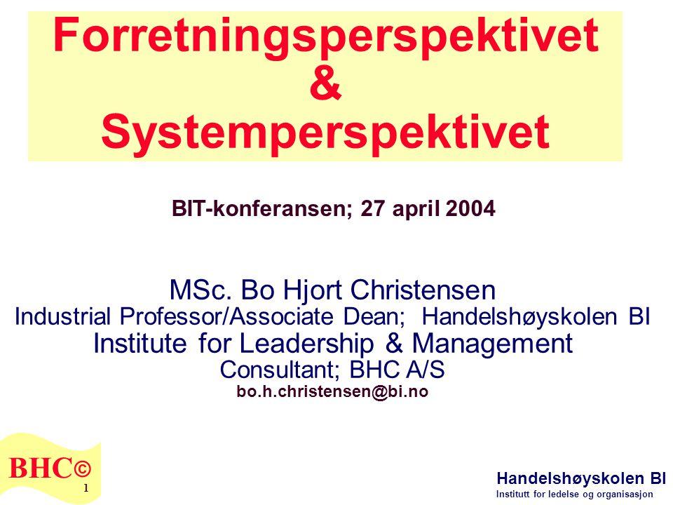 Forretningsperspektivet & Systemperspektivet