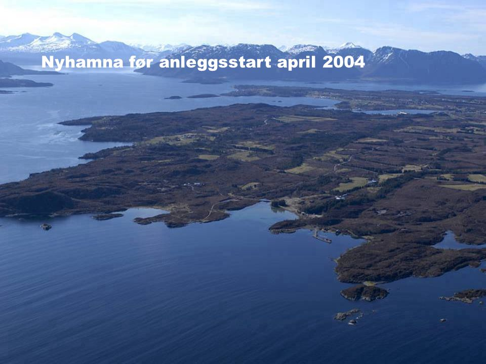 Nyhamna før anleggsstart april 2004