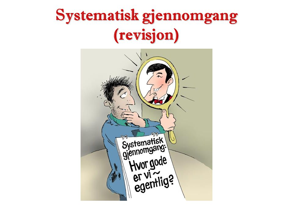 Systematisk gjennomgang (revisjon)
