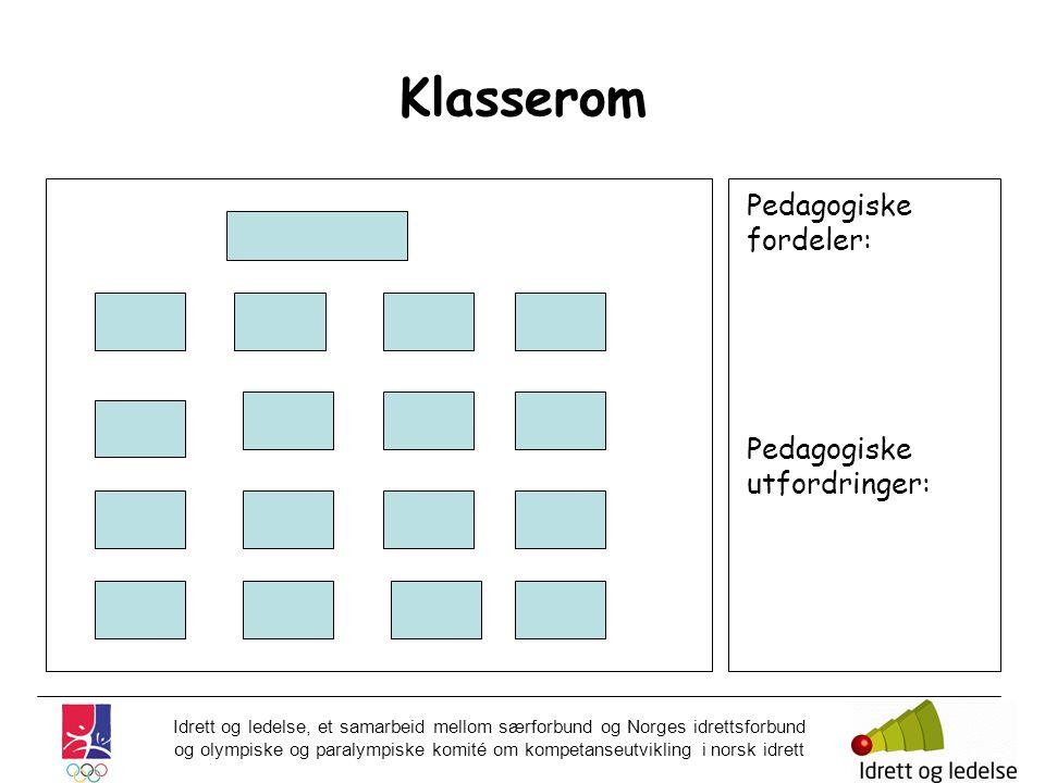 Klasserom Pedagogiske fordeler: Pedagogiske utfordringer: