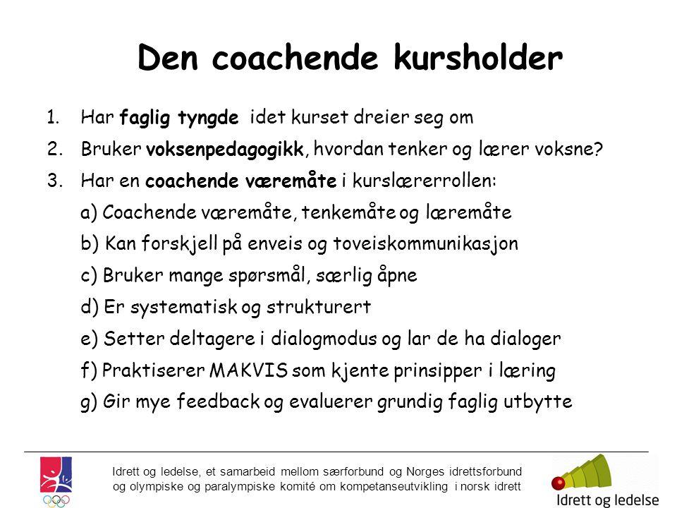 Den coachende kursholder