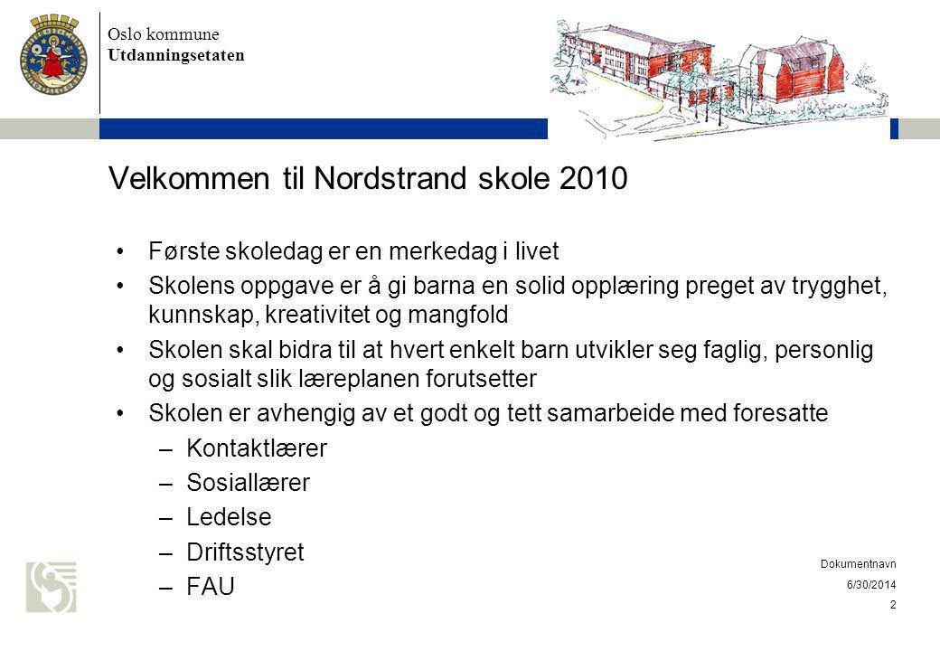 Velkommen til Nordstrand skole 2010