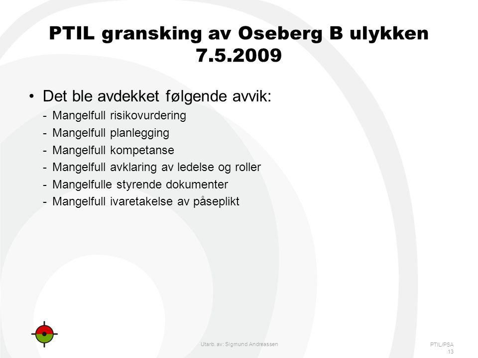 PTIL gransking av Oseberg B ulykken 7.5.2009