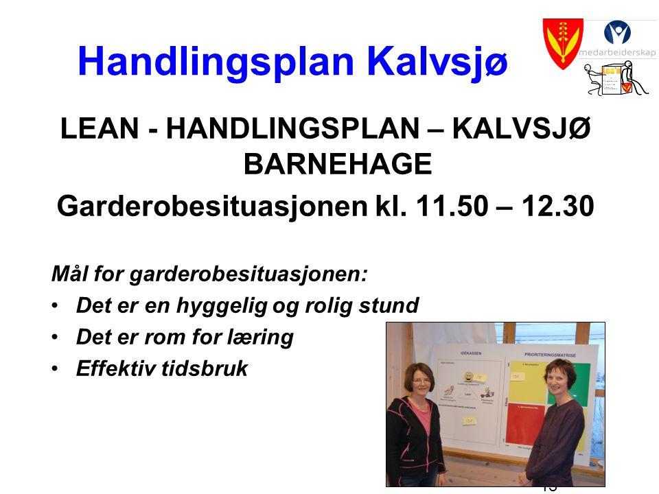 Handlingsplan Kalvsjø
