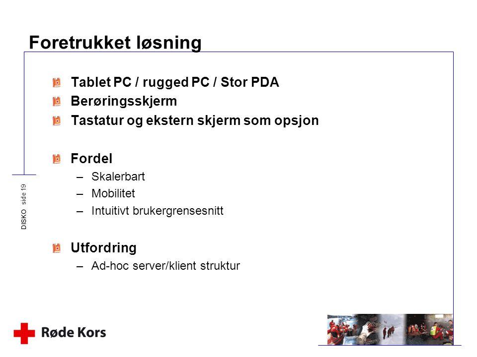 Foretrukket løsning Tablet PC / rugged PC / Stor PDA Berøringsskjerm