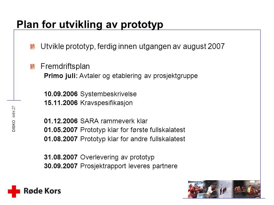 Plan for utvikling av prototyp