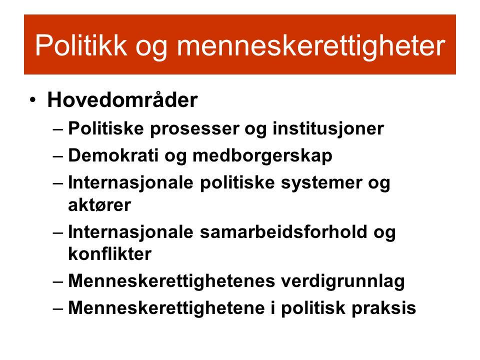 Politikk og menneskerettigheter