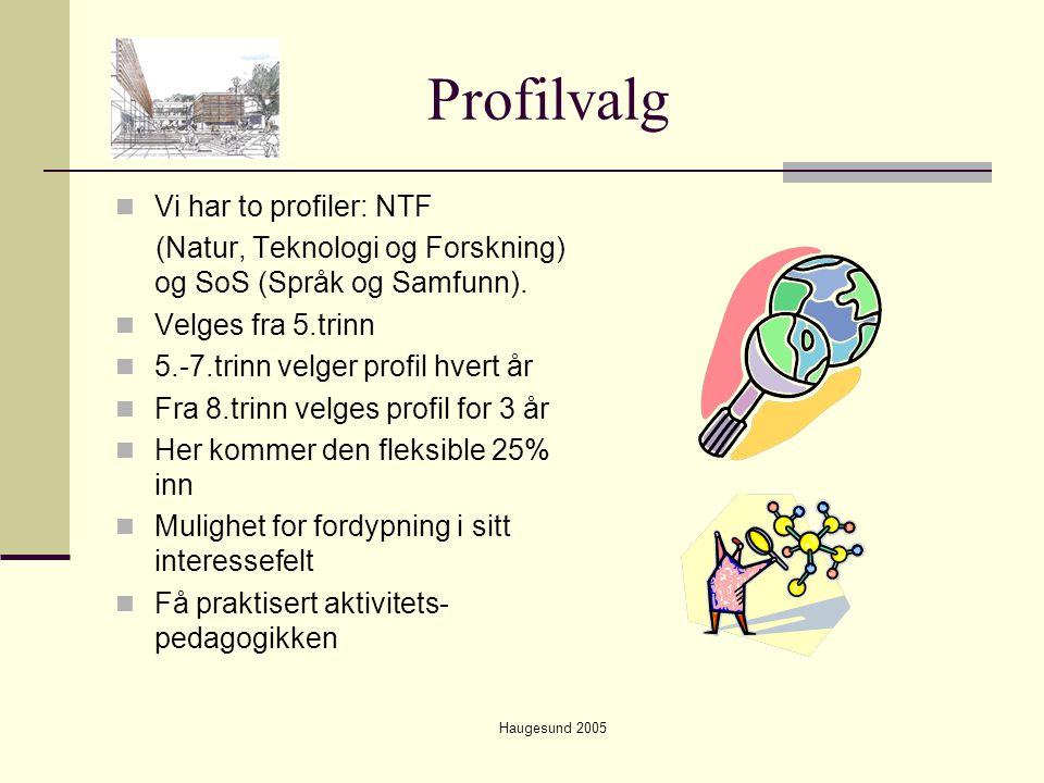 Profilvalg Vi har to profiler: NTF