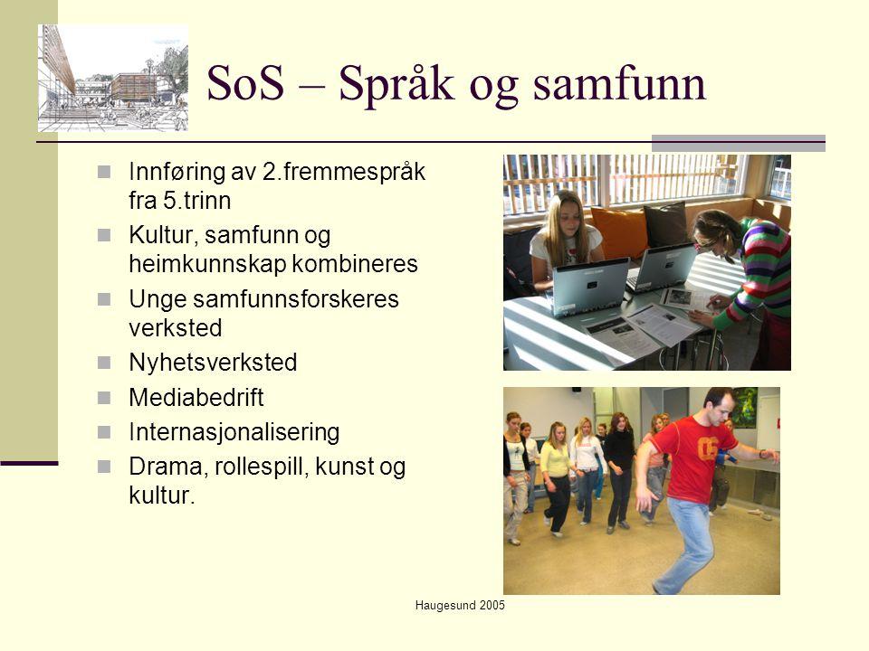 SoS – Språk og samfunn Innføring av 2.fremmespråk fra 5.trinn