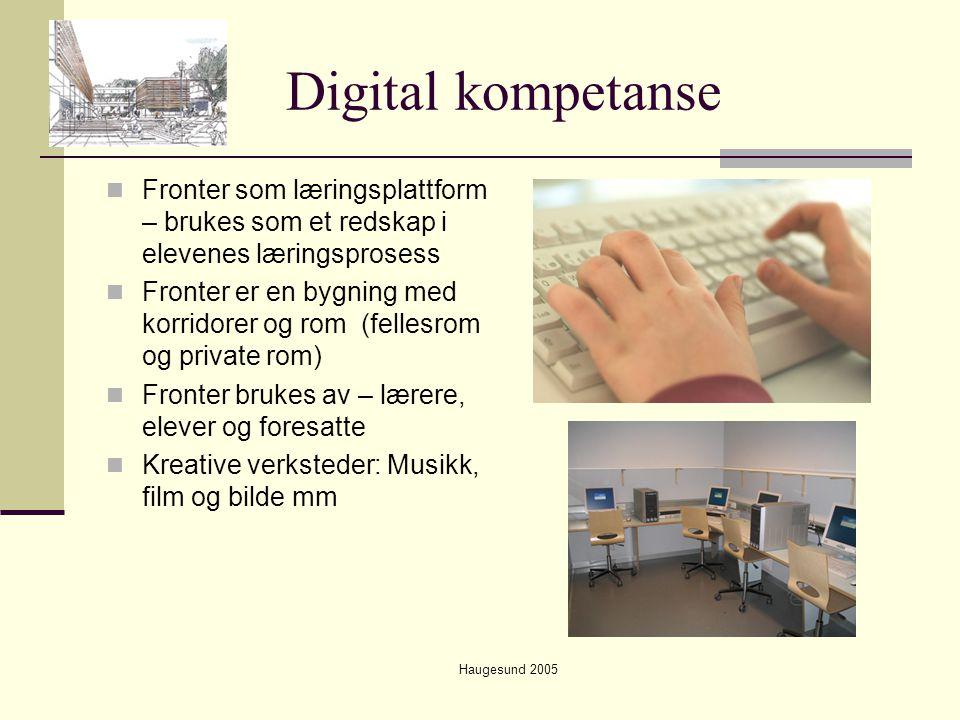 Digital kompetanse Fronter som læringsplattform – brukes som et redskap i elevenes læringsprosess.