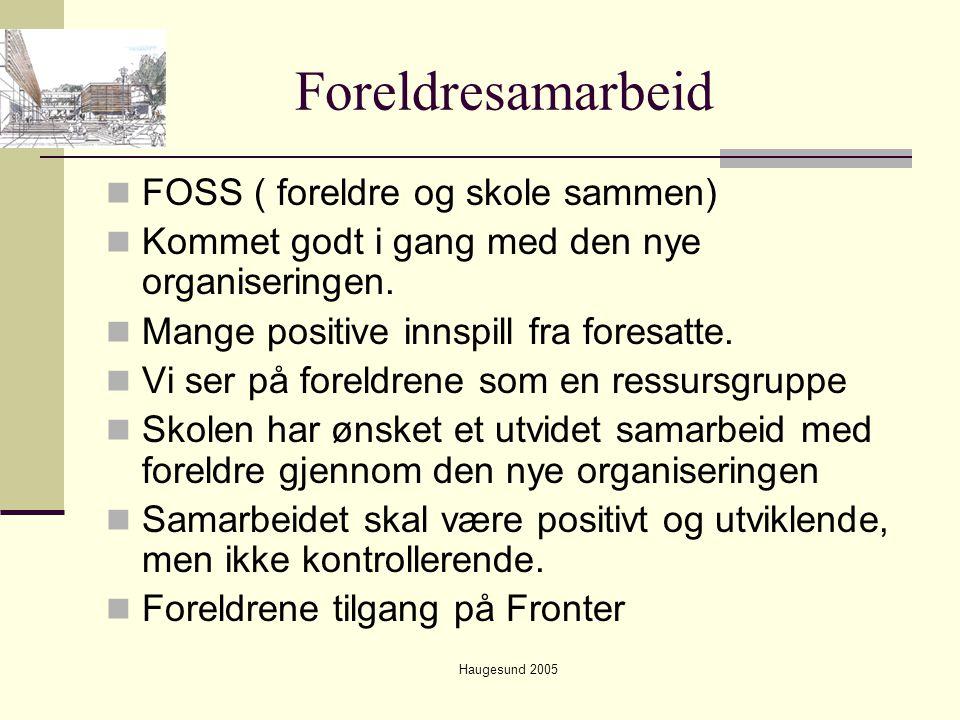 Foreldresamarbeid FOSS ( foreldre og skole sammen)