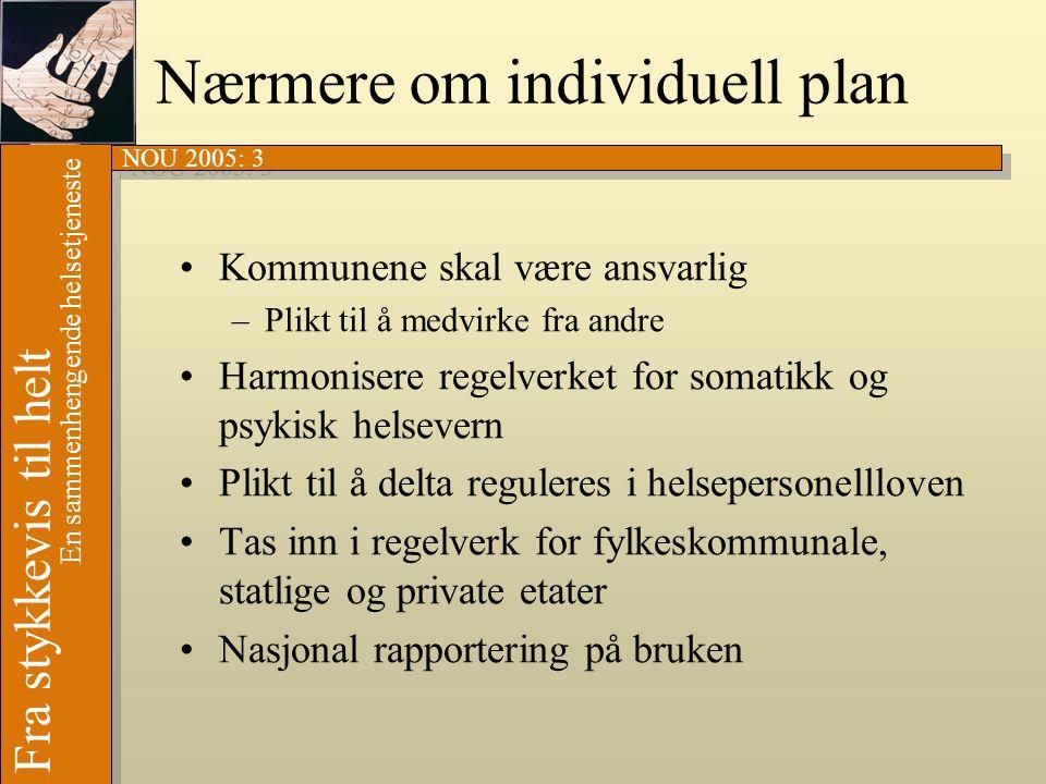 Nærmere om individuell plan