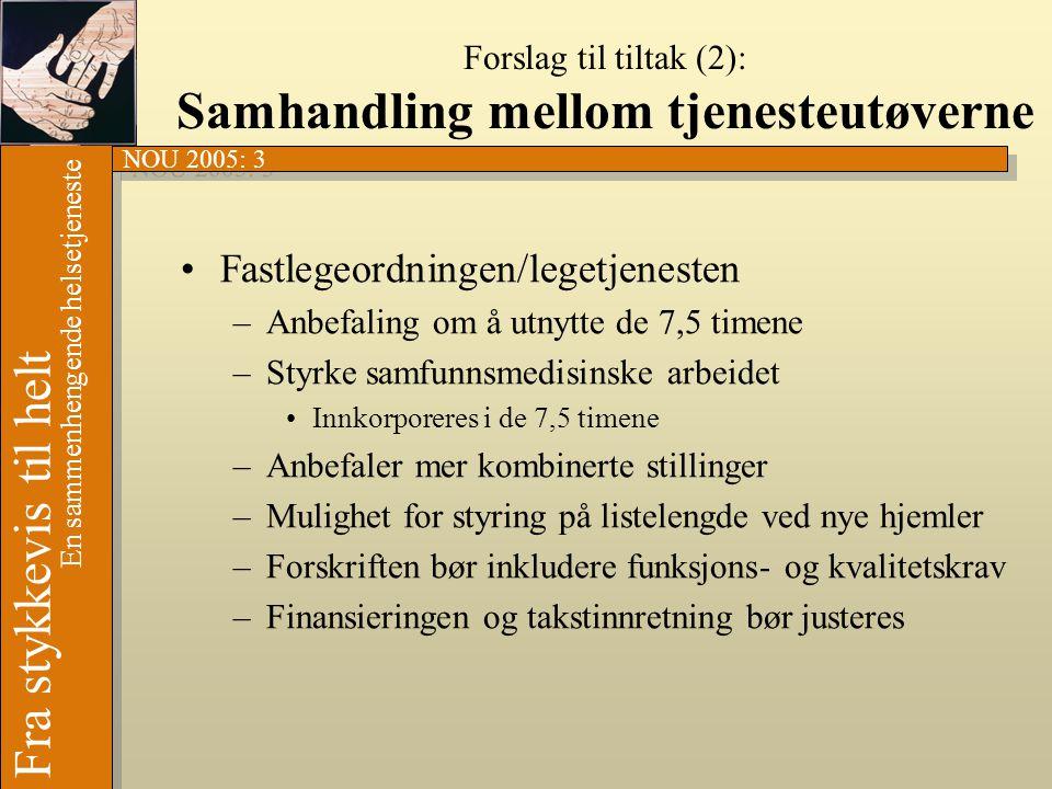 Forslag til tiltak (2): Samhandling mellom tjenesteutøverne