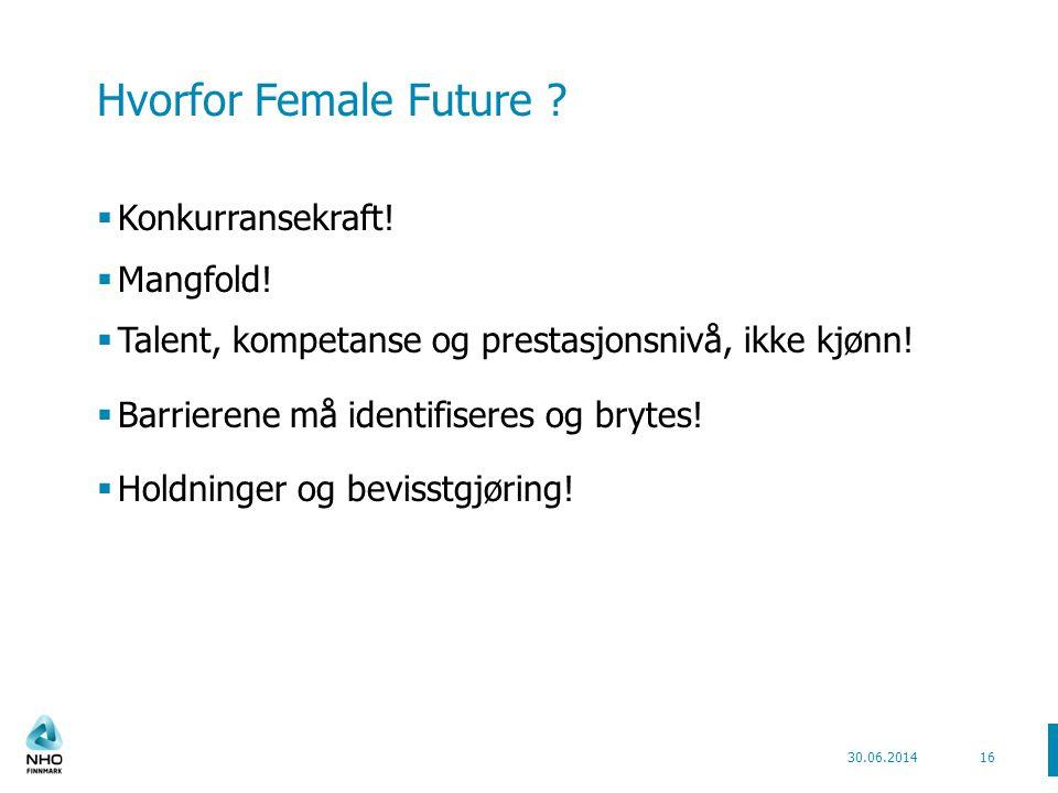 Hvorfor Female Future Konkurransekraft! Mangfold!