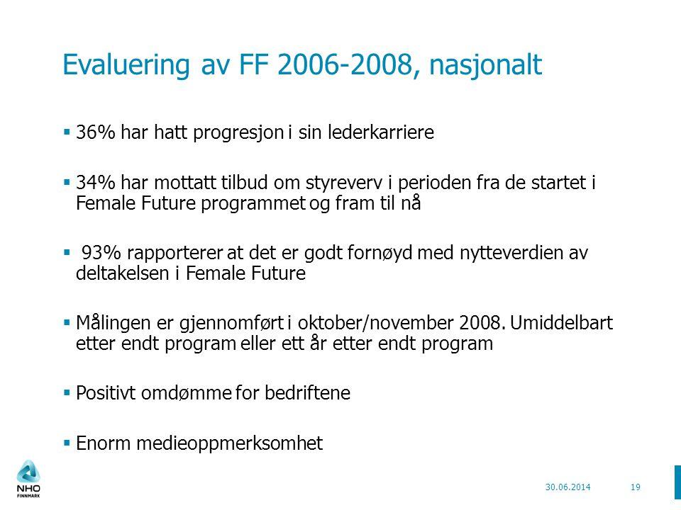 Evaluering av FF 2006-2008, nasjonalt