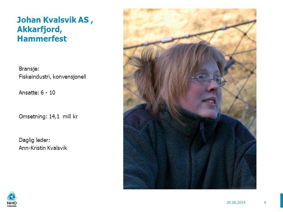 Johan Kvalsvik AS , Akkarfjord, Hammerfest