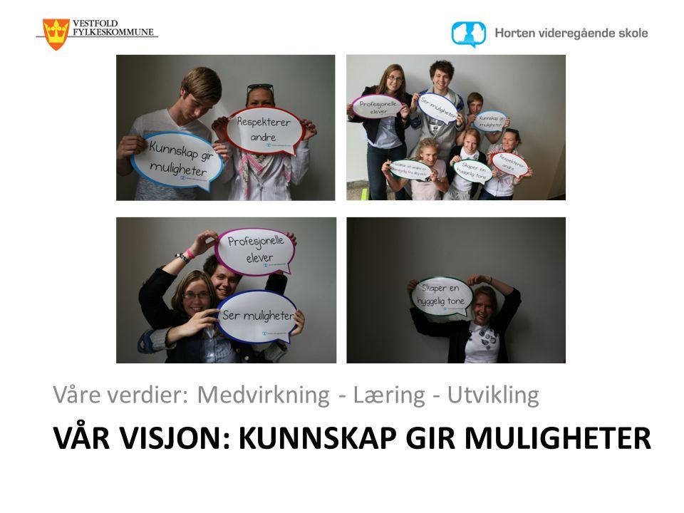 Vår visjon: KUnnskap gir muligheter
