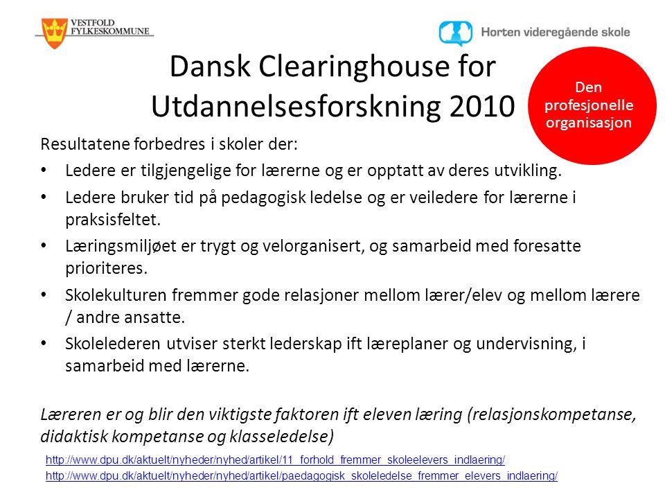 Dansk Clearinghouse for Utdannelsesforskning 2010