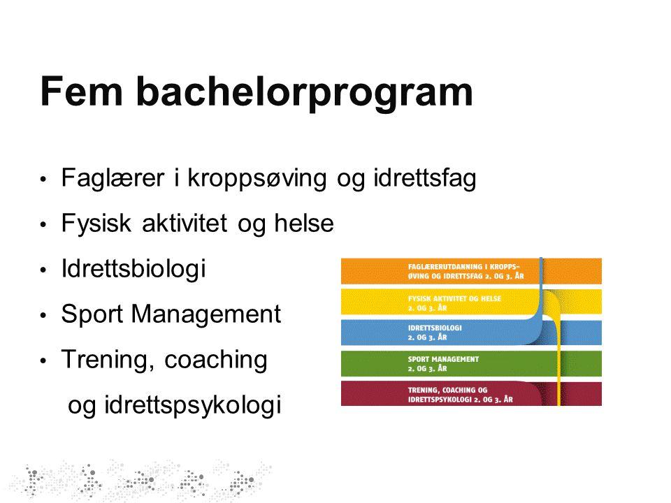 Fem bachelorprogram Faglærer i kroppsøving og idrettsfag