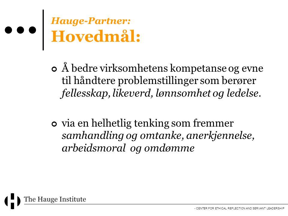 Hauge-Partner: Hovedmål:
