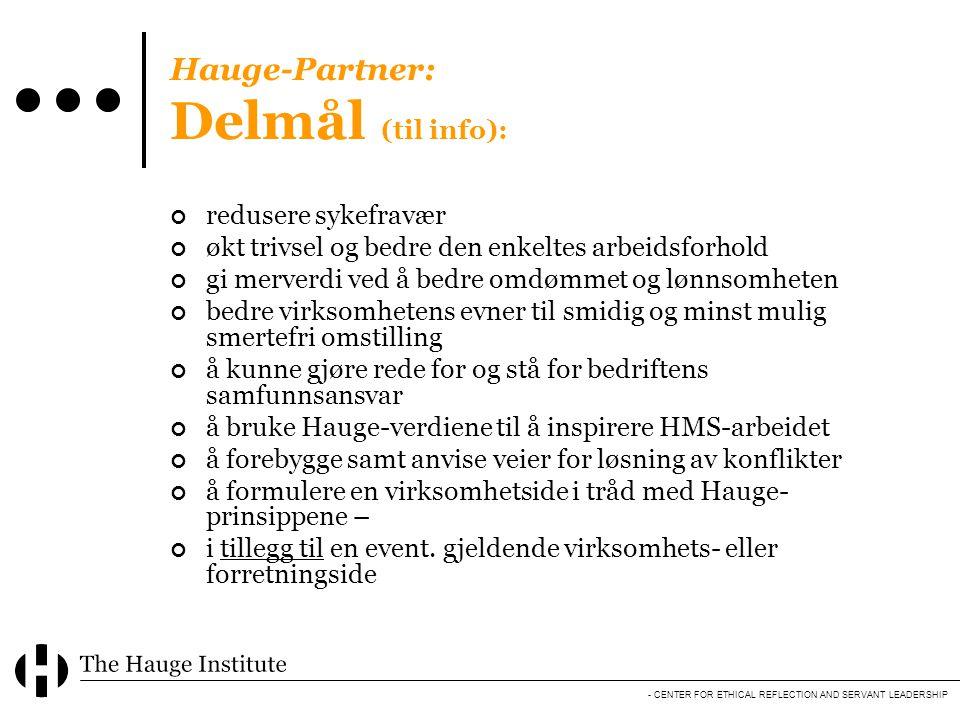 Hauge-Partner: Delmål (til info):