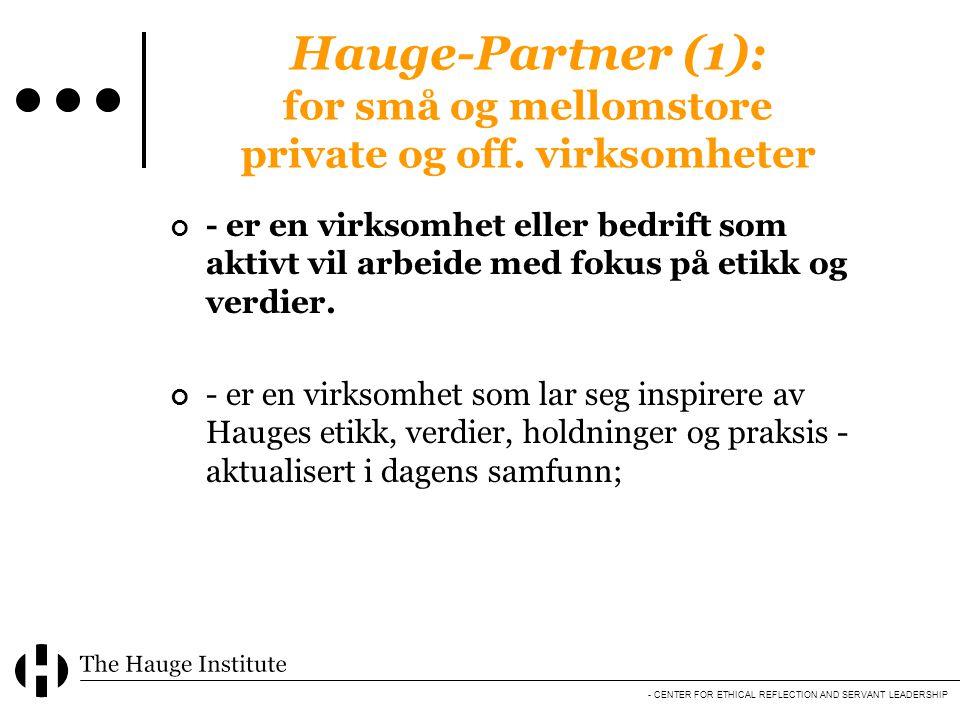 Hauge-Partner (1): for små og mellomstore private og off. virksomheter