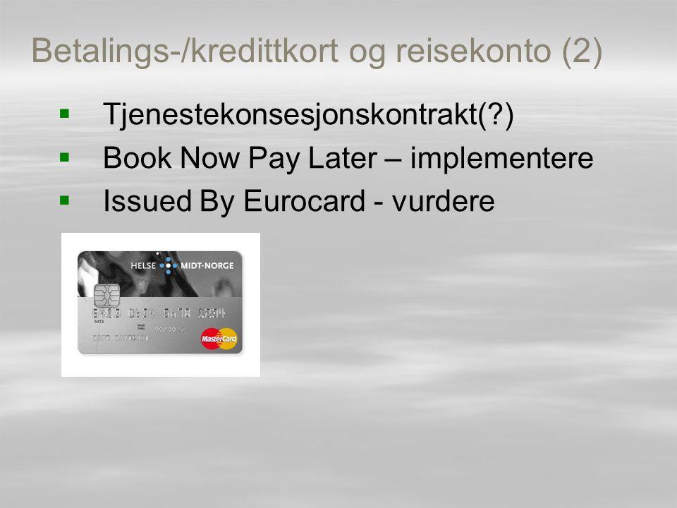 Betalings-/kredittkort og reisekonto (2)