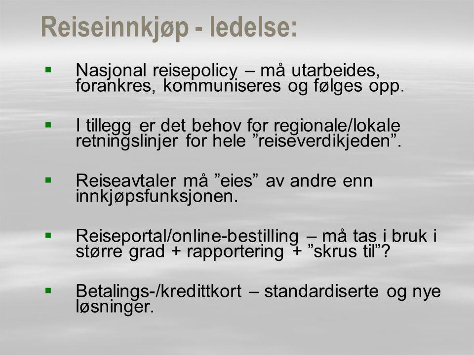 Reiseinnkjøp - ledelse: