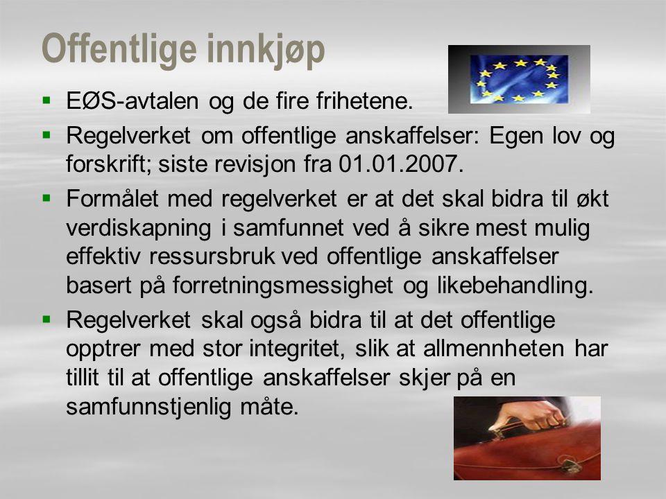 Offentlige innkjøp EØS-avtalen og de fire frihetene.