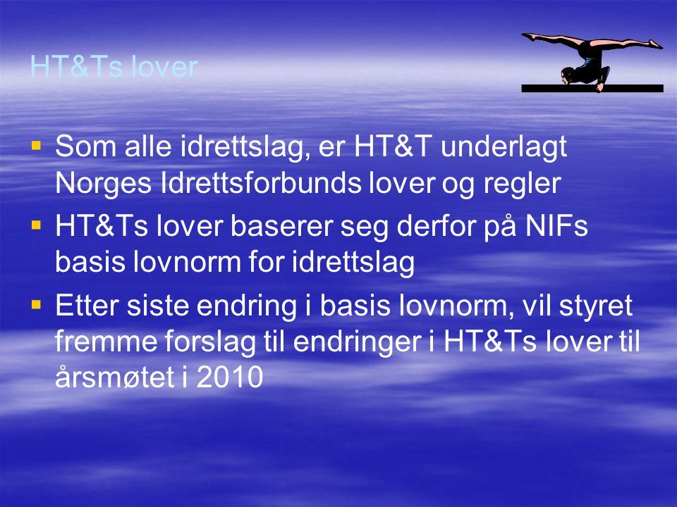 HT&Ts lover Som alle idrettslag, er HT&T underlagt Norges Idrettsforbunds lover og regler.