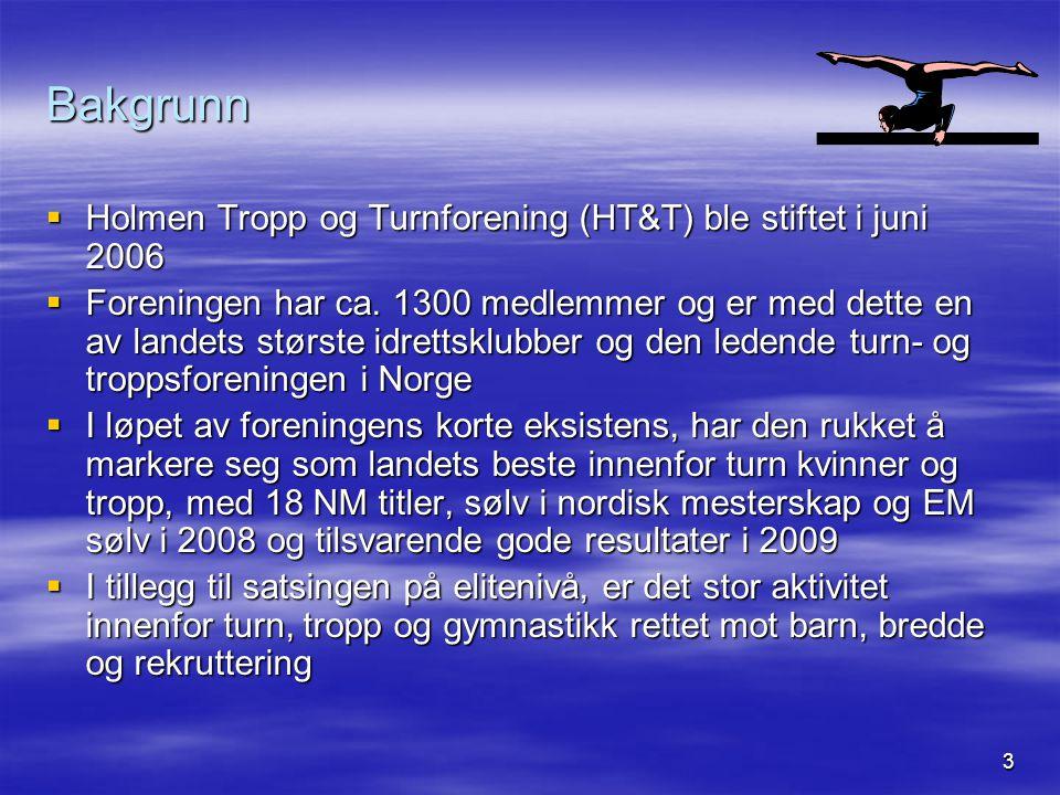 Bakgrunn Holmen Tropp og Turnforening (HT&T) ble stiftet i juni 2006
