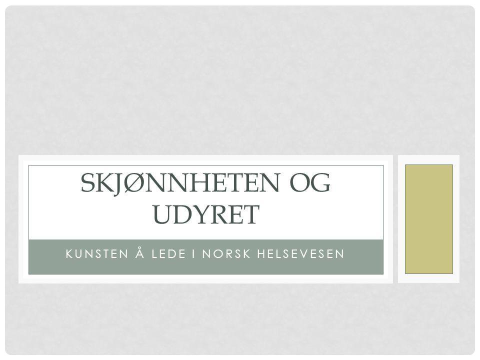 Kunsten å lede i norsk helsevesen