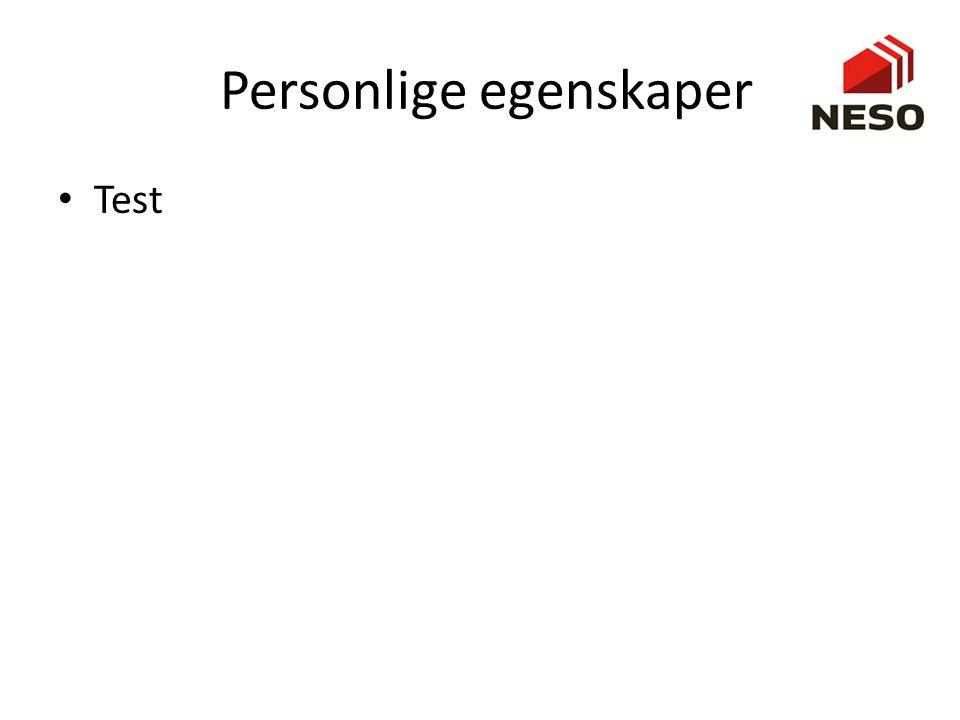 Personlige egenskaper
