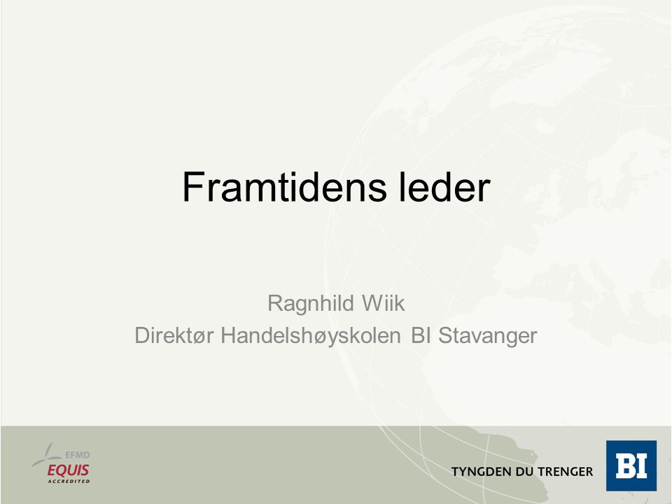 Ragnhild Wiik Direktør Handelshøyskolen BI Stavanger