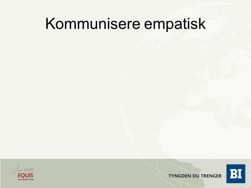 Kommunisere empatisk