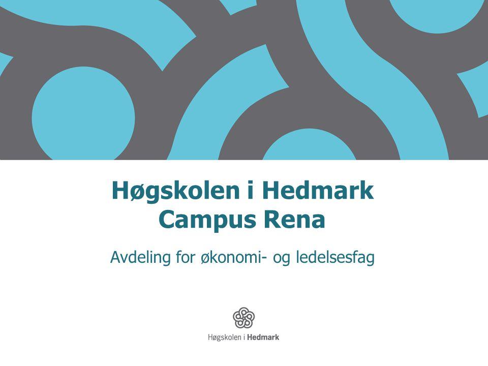 Høgskolen i Hedmark Campus Rena