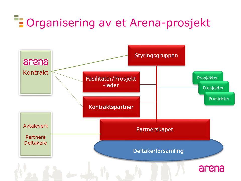 Organisering av et Arena-prosjekt