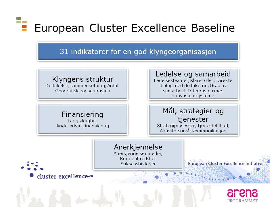 European Cluster Excellence Baseline