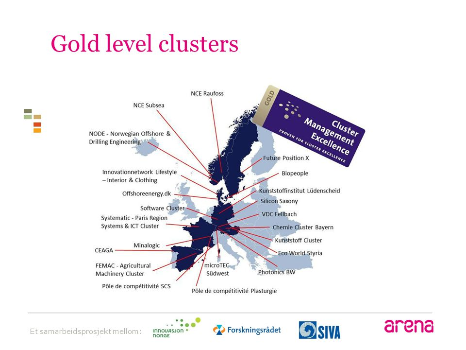 Gold level clusters