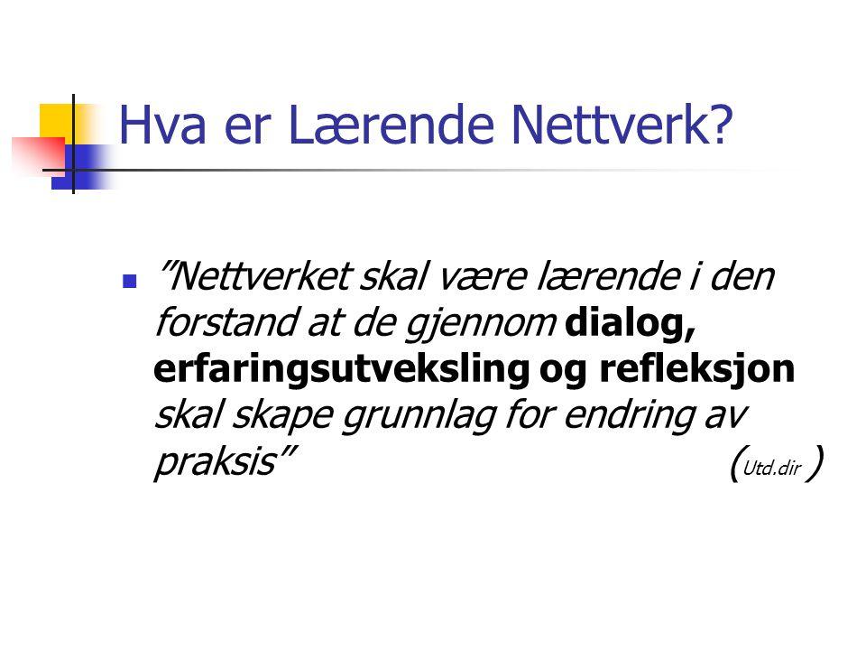 Hva er Lærende Nettverk