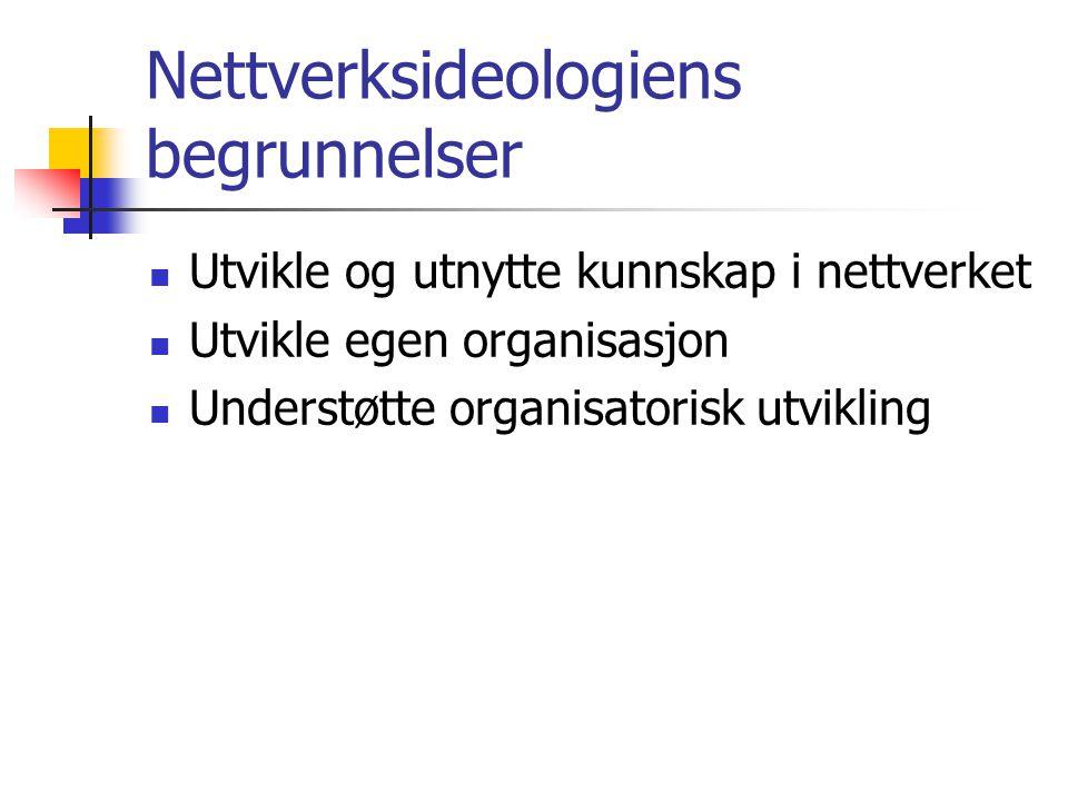 Nettverksideologiens begrunnelser