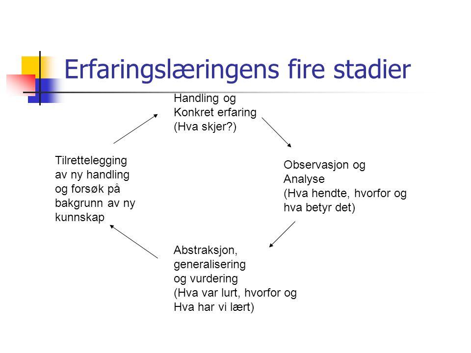 Erfaringslæringens fire stadier