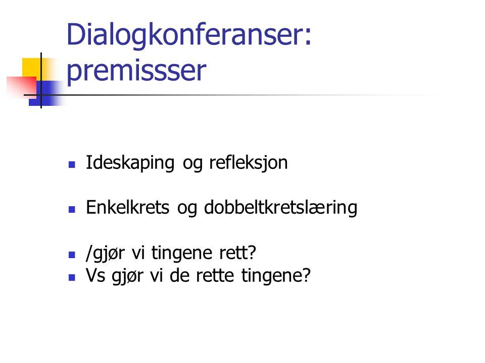 Dialogkonferanser: premissser